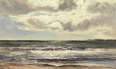 Skyscape Painting - Grange Over Sands by Sidney Richard Percy