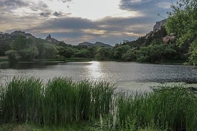 Prescott Photograph - Granite Basin Lake Sunset by Teresa Wilson
