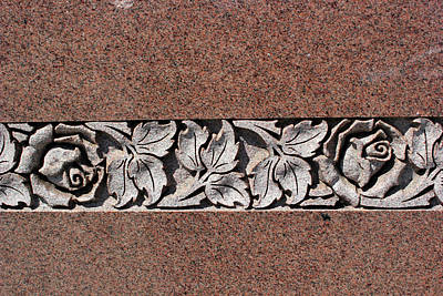 Photograph - Granite Building Detail Port Huron by Mary Bedy