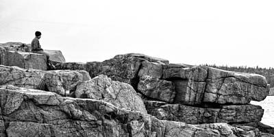 Photograph - Granite Cliffs At Thunder Hole - Acadia - Maine by Geoffrey Coelho