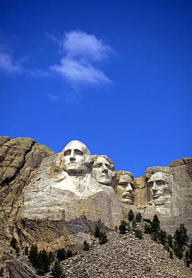Mount Rushmore Photograph - Granite Faces, Mount Rushmore by Buddy Mays