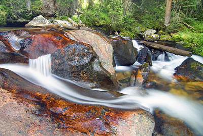 Print featuring the photograph Granite Falls by Gary Lengyel