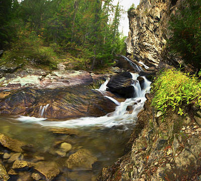 Photograph - Granite Falls Impression by Paul DeRocker