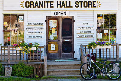 Art Print featuring the photograph Granite Hall Store  by Susan Cole Kelly