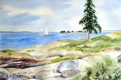 Granite Ledges II Art Print