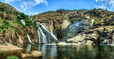Photograph - Granite Mountain Waterfall Panorama by Weston Westmoreland