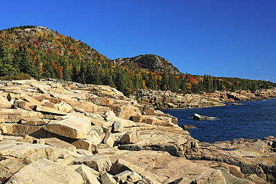 Granite Rocks At The Coast Art Print by George Oze