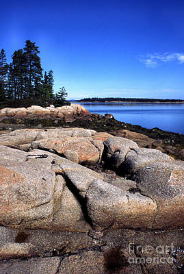 Penobscot Bay Photograph - Granite Shoreline Deer Isle Maine by Thomas R Fletcher