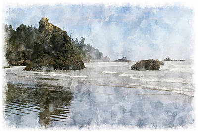 Granite Stacks Olympic Park Art Print by Peter J Sucy