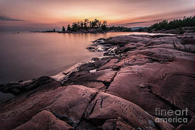 Photograph - Granite Sunset - Killarney Canada by Matt Trimble