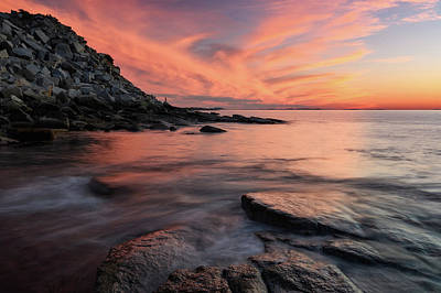 Photograph - Granite Sunset Rockport Ma. by Michael Hubley