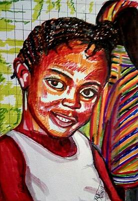 Painting - Granito Tucker Aged 7 In 2011 by Mudiama Kammoh