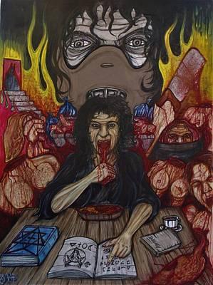 Artgrinder Painting - Grannibal Lecter - Tamara Samsanova by Sam Hane