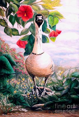 Granny's Goose Art Print by DiDi Higginbotham
