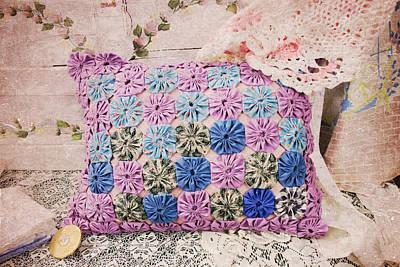 Granny's Pillow Print by Toni Hopper