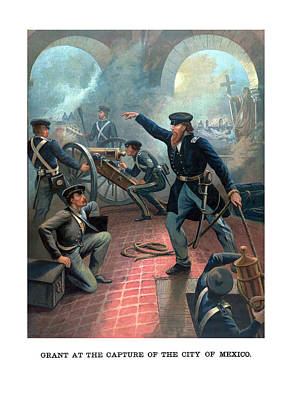 Grant At The Capture Of The City Of Mexico Art Print
