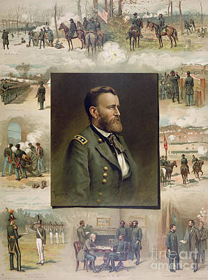 General Grant Drawing - Grant From West Point To Appomattox by Thure de Thulstrup