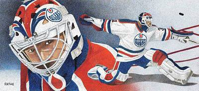 Edmonton Oilers Drawing - Grant Fuhr by Rob Payne