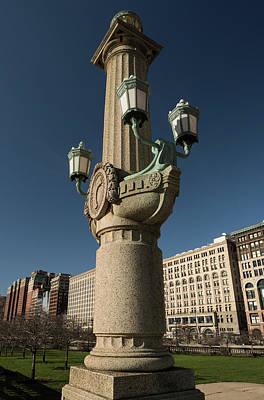 Grant Park Light Setting Chicago Art Print by Steve Gadomski