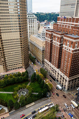 Grant Street As Seen From Usx Tower Pittsburgh Pa Print by Amy Cicconi