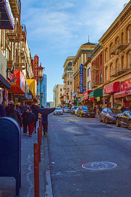 Photograph - Grant Street In Chinatown by Bonnie Follett
