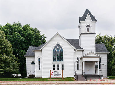 Photograph - Grant United Methodist Church by Edward Peterson