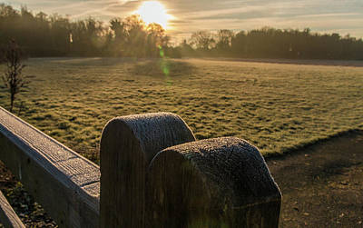 Photograph - Grantchester Sunrise by David Warrington