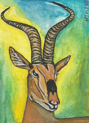 Kenyan Painting - Grant's Gazelle by Ken Nganga