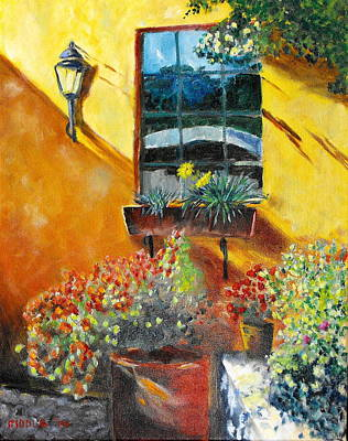 Painting - Grant's Patio Window San Miguel by Jack Riddle