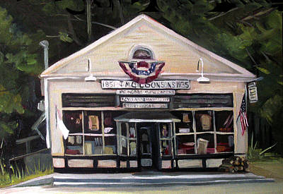 Painting - Granville Country Store Front View by Nancy Griswold