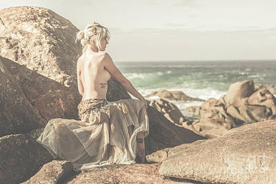 Feminine Photograph - Granville Harbour Tasmania Fine Art Beauty Portrait by Jorgo Photography - Wall Art Gallery