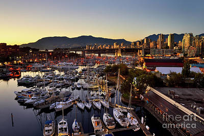 Photograph - Granville Island At False Creek - Vancouver Bc 1 by Terry Elniski