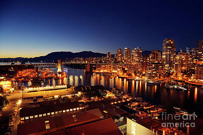 Photograph - Granville Island At False Creek - Vancouver Bc 2 by Terry Elniski