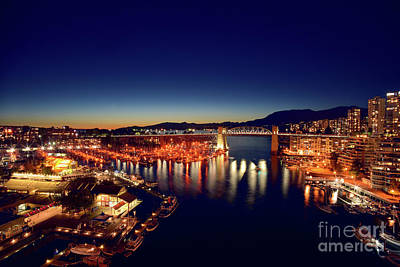 Photograph - Granville Island At False Creek - Vancouver Bc 3 by Terry Elniski