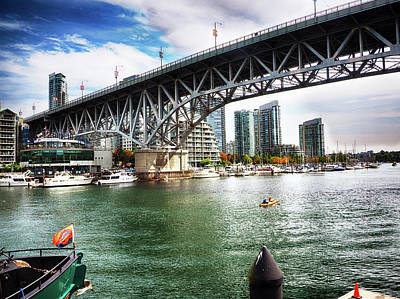 Photograph - Granville Island Bridge by C H Apperson