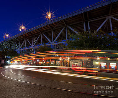 Photograph - Granville Island Light Streaks by Terry Elniski
