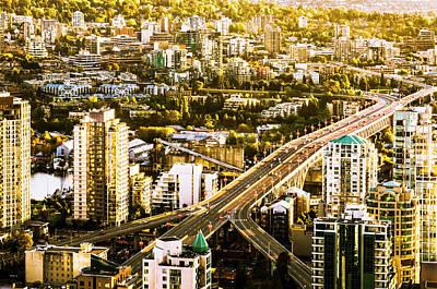 Granville Street Bridge Vancouver British Columbia Art Print