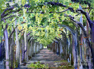 Painting - Grape Arbor by Donna Walsh