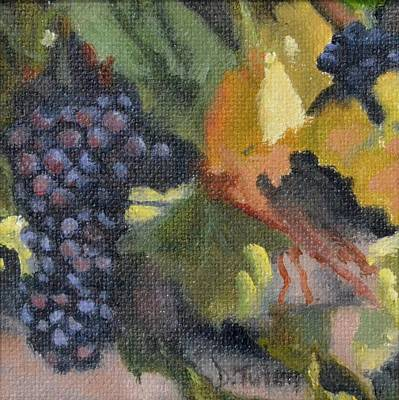 Grape Cluster Art Print by Donna Tuten
