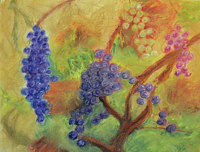 Grape Collage Print by Ken Figurski