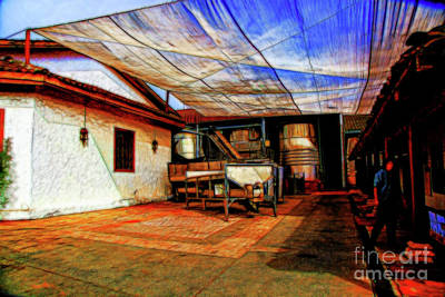 Digital Art - Grape Crushing by Rick Bragan