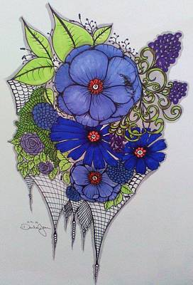 Blue Grapes Drawing - Grape by Darla Nagengast