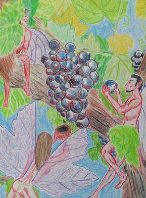 Grape Fairy Harvest Art Print