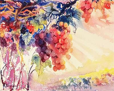 Painting - Grape Garden by Ping Yan