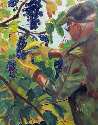 Grape Harvest Original by Charlotte Loetz