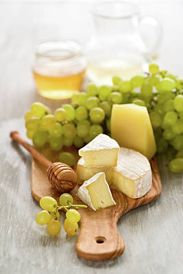 Photograph - Grape, Honey And Cheese by Verdina Anna