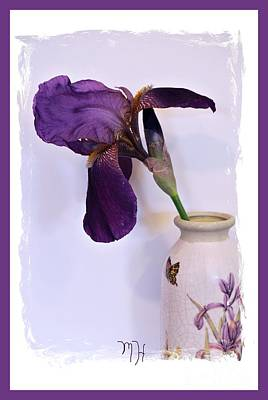 Photograph - Grape Iris In A Vase by Marsha Heiken