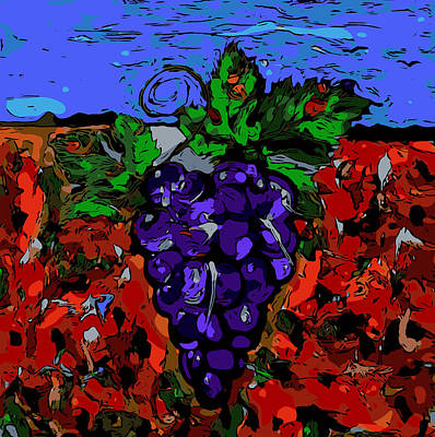 Grape Jazz Digital Original by Neal Barbosa