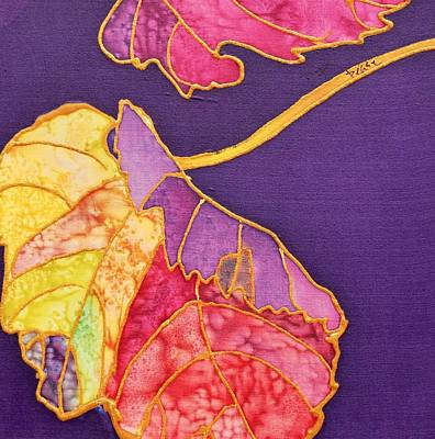 Painting - Grape Leaves by Barbara Pease