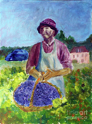 Painting - Grape Picker by Donna Walsh